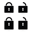 padlock icon black vector image