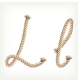 Rope alphabet Letter L vector image