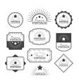 Set vintage labels and frame vector image vector image