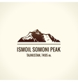 Mountain tourist logo Emblem Mount vector image