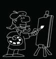 Cartoon Artist vector image vector image