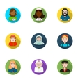 People of different profession set icons in flat vector image
