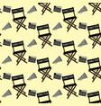 movie director stuff pattern vector image
