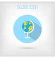 Flat-styled school globe icon vector image