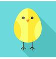 Yellow bird chicken vector image