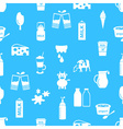 milk and milk product theme icons seamless pattern vector image