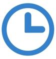 Clock flat cobalt color icon vector image