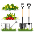 Gardening related items vector image