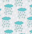 Happy funny raindrops seamless pattern vector image