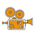 isolated retro video camera design vector image