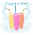 Oxygen cocktail icon with straw vector image