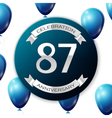 Silver number eighty seven years anniversary vector image