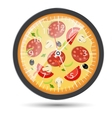 Pizza watch concept vector image