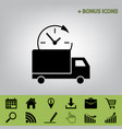 delivery sign   black icon at vector image