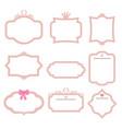 set of decorative frames set of decorative frames vector image