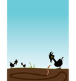 Bird watching worm vector image vector image