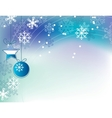 christmas elegant blue background vector image vector image