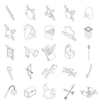 Medieval knights icons set isometric 3d style vector image