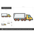cargo truck line icon vector image