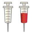 Cartoon syringe vector image