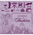 fashion antique set vector image