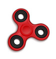 fidget spinner hand rotation antistress toy for vector image