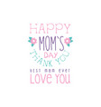 happy moms day logo template best mom thank you vector image