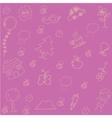 Pink Backgrounds doodle art vector image