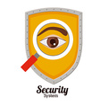 Security system design vector image