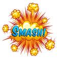 Smash vector image