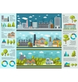 Urban Life Infographics vector image
