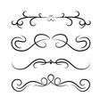 Calligraphic design element set vector image