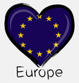 love Europe flag vector image vector image