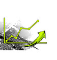 green graph is comming up vector image vector image