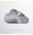 Cloud glass icon vector image