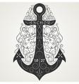 Vintage hand drawn logo flourish anchor vector image