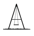swing black vector image