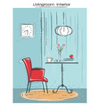 Livingroom interior place for reading or relaxHand vector image vector image
