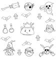 Element costume halloween in doodle vector image
