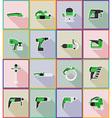electric repair tools flat icons 18 vector image