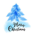 blue watercolor fir on a white background vector image