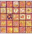 Seamless pattern of doodle hearts vector image