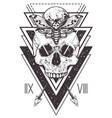skull sacred geometry design vector image