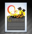 summer brochure design vector image