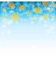 winter light blue background vector image