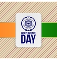 India Independence Day Holiday Label Template vector image