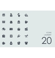 Set of laundry icons vector image