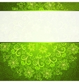 Green abstract floral ornament background vector image