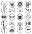 Party Icons Collection vector image