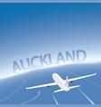 auckland flight destination vector image